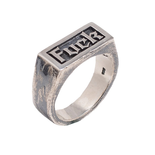 FUCK RING | 925 STERLING SILVER - JewelryLab