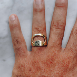 SUN & JAGUAR BOTTLE OPENER RING | BRASS - JewelryLab