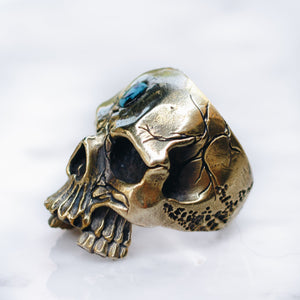 SKULL & STONE RING | BRASS - JewelryLab