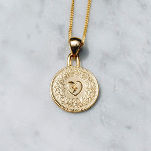 HEART OF GOLD NECKLACE | 24K GOLD PLATED - JewelryLab