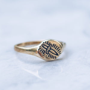 Killing Me Softly XS Minimal Ring | Brass - JewelryLab