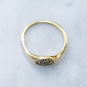 HAPPY SKULL | BRASS - JewelryLab