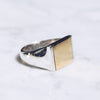 MIXED METAL FLAT TOP RING | 925 STERLING SILVER & BRASS - JewelryLab