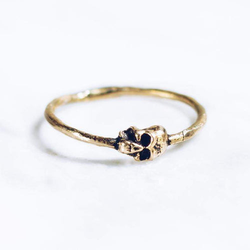 MINI JIVE SKULLS RING | BRASS - JewelryLab
