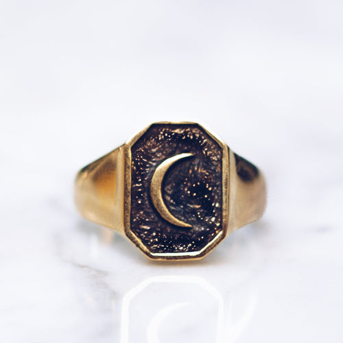 OLD MOON RING | BRASS - JewelryLab