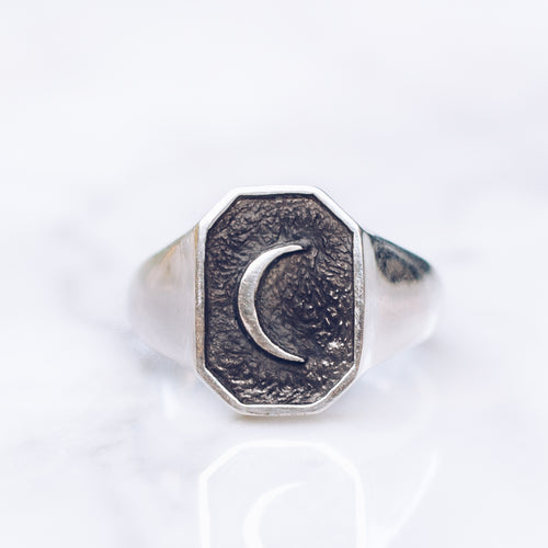 OLD MOON RING | 925 STERLING SILVER