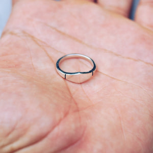 MINIMAL GEOMETRIC RING | 925 STERLING SILVER - JewelryLab