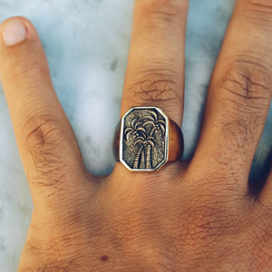 PALM TREE RING | BRASS - JewelryLab
