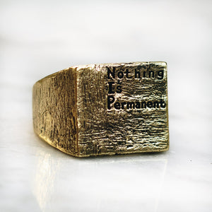 NOTHING IS PERMANENT RING | BRASS - JewelryLab