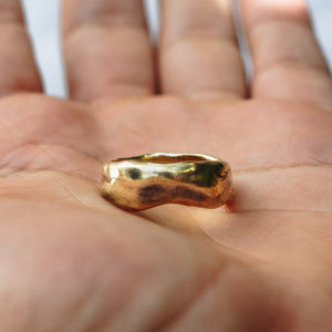 MEDIUM ABSTRACT RING | BRASS - JewelryLab