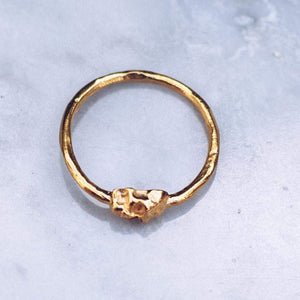 MINI JIVE SKULLS RING | 14K GOLD - JewelryLab