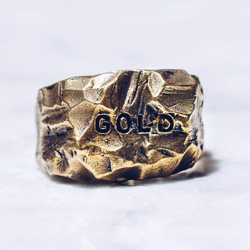 G O L D RING | BRASS - JewelryLab