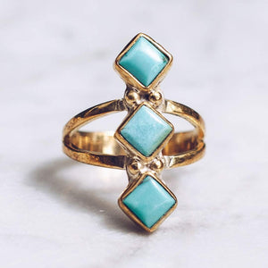 WATERFALL RING | BRASS - JewelryLab