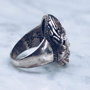 KNOWLEDGE SEEKER SKULL RING | STERLING SILVER - JewelryLab