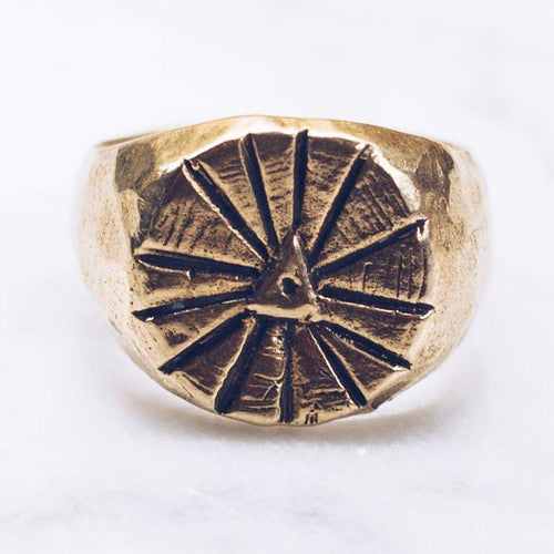 SUNRISE RING | BRASS - JewelryLab