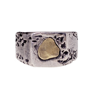 THE DREAM RING | 925 STERLING SILVER W/BRASS EMBLEM - JewelryLab