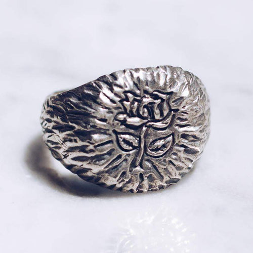 RAW ROSE RING | 925 STERLING SILVER - JewelryLab