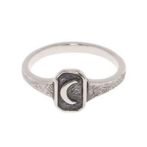 SMALL OLD MOON RING | 925 STERLING SILVER - JewelryLab