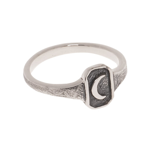 SMALL OLD MOON RING | 925 STERLING SILVER