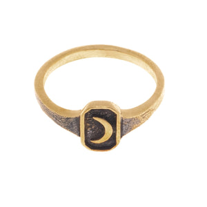 SMALL OLD MOON RING | BRASS