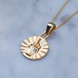 BEST WISHES COIN NECKLACE | 24K GOLD PLATED - JewelryLab