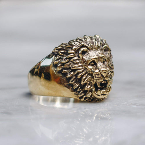 LION RING | BRASS - JewelryLab