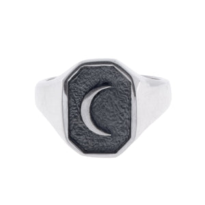 OLD MOON RING | 925 STERLING SILVER - JewelryLab