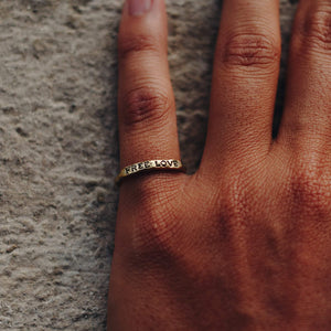 FREE LOVE RING | BRASS - JewelryLab