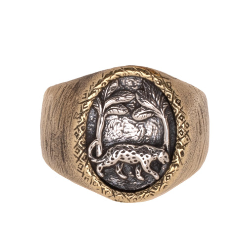 HUTAN RING | BRASS W/925 STERLING SILVER EMBLEM