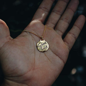 GOOD LUCK DESERT FLOWER PENDANT NECKLACE | 24K GOLD PLATED - JewelryLab