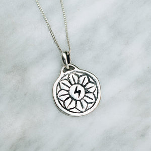 GOOD LUCK DESERT FLOWER PENDANT NECKLACE | 925 STERLING SILVER - JewelryLab