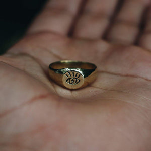 OPEN EYE RING | BRASS - JewelryLab