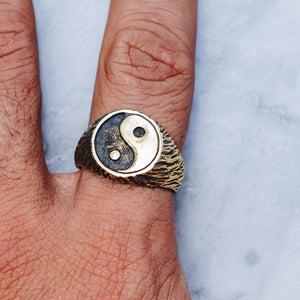 YIN AND YANG RING | BRASS - JewelryLab