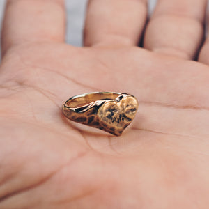 RUSTIC HEART RING | BRASS - JewelryLab