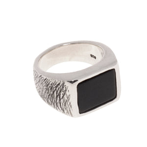 BLACK ONYX RING | 925 STERLING SILVER - JewelryLab