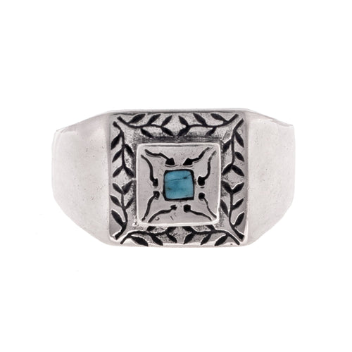 RIVER & VINES RING | 925 STERLING SILVER w/TURQUOISE CENTERPIECE - JewelryLab