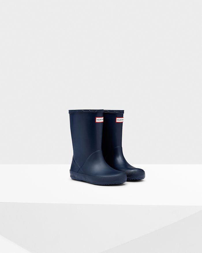 "Hunter Boots Kids First Classic ""Navy"""