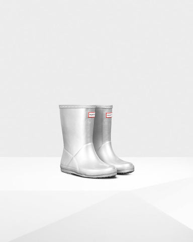 "Hunter Boots Kids First Classic ""Silver"""