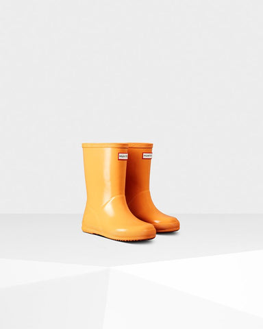 "Hunter Boots Kids First Classic ""Flamingo Tongue"""
