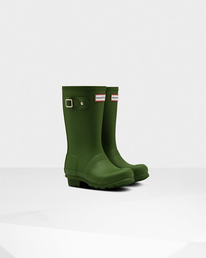 "Hunter Boots Original Kids ""Scottish Moss"""