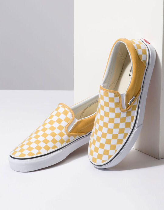 Vans Classic Slip-On Yellow Checkerboard