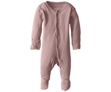 "Loved Baby Footed Sleeper ""Mauve"""