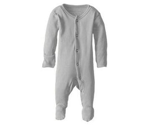 "Loved Baby Footed Sleeper ""Light Grey"""
