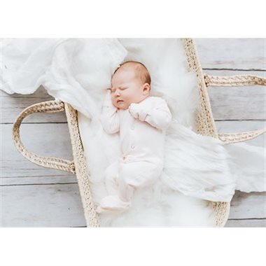 "Loved Baby Footed Sleeper ""Blush"""