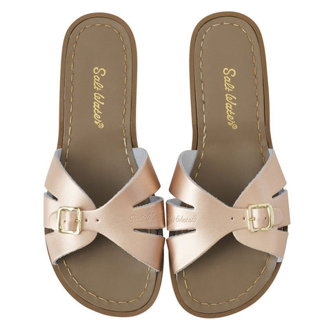 "Saltwater Sandals Women Slides ""Rose Gold"""
