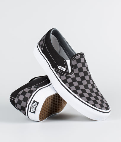 Vans Classic Slip-On Pewter Checkerboard