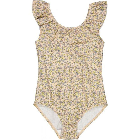 "Wheat Swimsuit Marie-Louise ""Blue Flowers"""