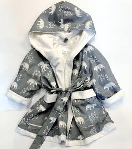 "Pomme Luxe Bath Robe ""Winter Bear"""