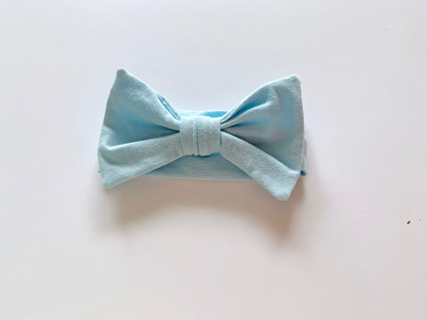 "Coastin Kids Jersey Hairbow ""Blue"""