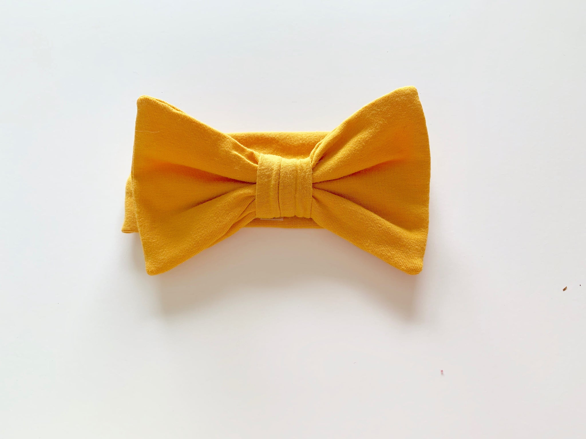 "Coastin Kids Jersey Hairbow ""Yellow"""